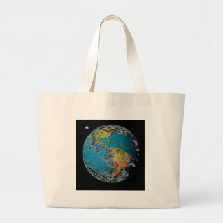 BIG BLUE MARBLE -- THE EARTH CANVAS BAGS