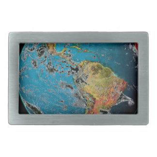 BIG BLUE MARBLE -- THE EARTH BELT BUCKLES