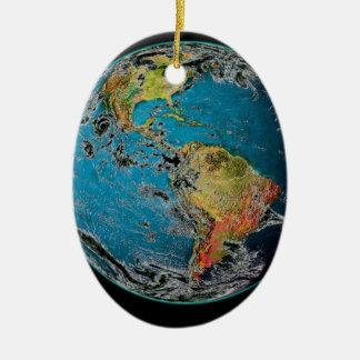 BIG BLUE MARBLE -- THE EARTH CERAMIC ORNAMENT