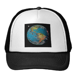 BIG BLUE MARBLE -- THE EARTH TRUCKER HAT