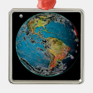 BIG BLUE MARBLE -- THE EARTH METAL ORNAMENT