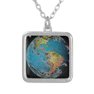 BIG BLUE MARBLE -- THE EARTH CUSTOM NECKLACE