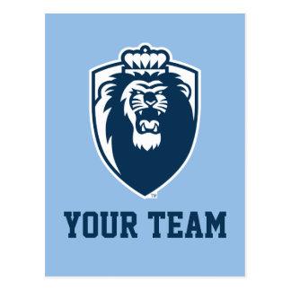 Big Blue Monarchs Shield Postcard