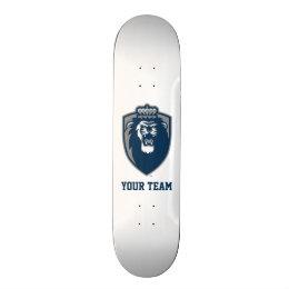 Big Blue Monarchs Shield Skateboard