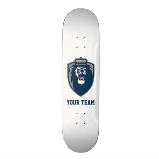 Big Blue Monarchs Shield Skateboard