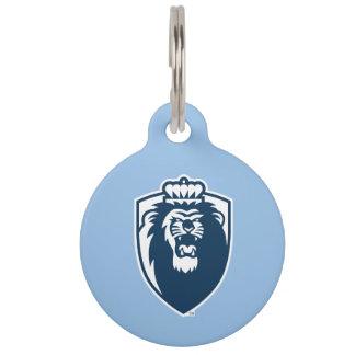 Big Blue Monarchs Shield - White Pet ID Tag