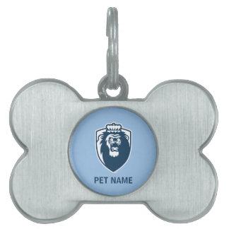 Big Blue Monarchs Shield - White Pet Tags