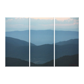 Big Blue Mountains 3 Piece Canvas Gallery Wrap Canvas