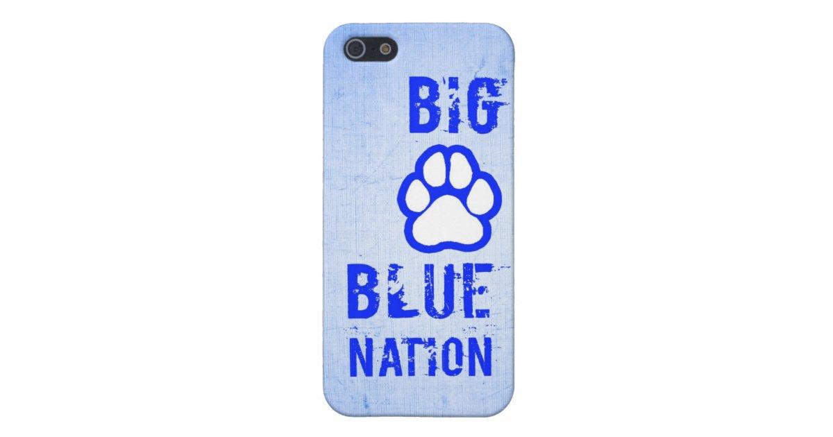 official photos 50999 c8f22 Big Blue Nation Cat Paw Sports Team iPhone Case   Zazzle.com