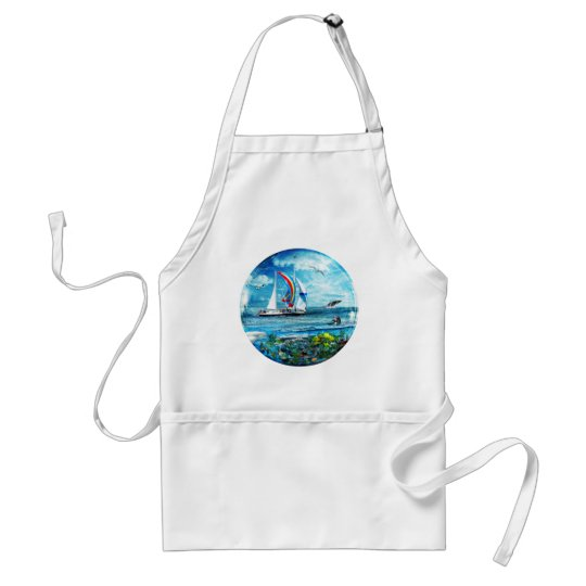 Big Blue Ocean Bubble Natures Playground Adult Apron