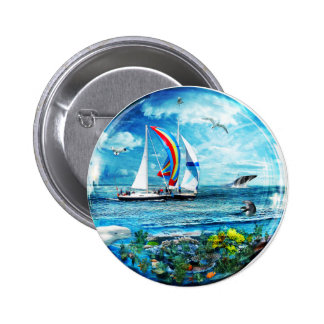 Big Blue Ocean Bubble Natures Playground Button