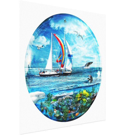 Big Blue Ocean Bubble Natures Playground Canvas Print