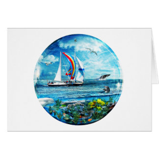 Big Blue Ocean Bubble Natures Playground Card