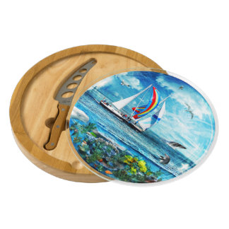 Big Blue Ocean Bubble Nature's Playground Cheese Platter