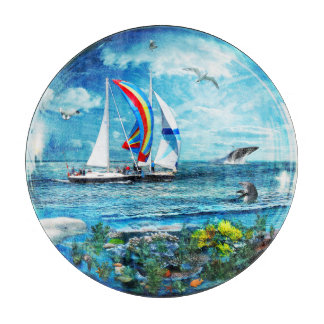 Big Blue Ocean Bubble Nature's Playground Cutting Board