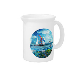Big Blue Ocean Bubble Natures Playground Drink Pitcher