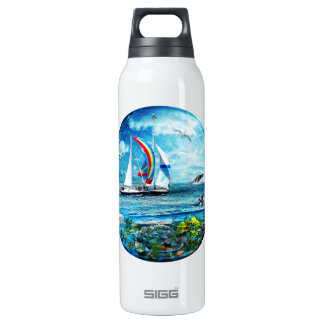 Big Blue Ocean Bubble Natures Playground Insulated Water Bottle
