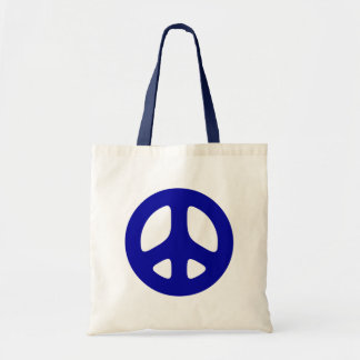 Big Blue Peace Sign Beach Tote Tote Bags