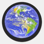 Big Blue Planet Earth Classic Round Sticker