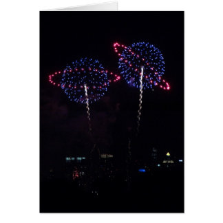 Big Blue Planet Fireworks Card