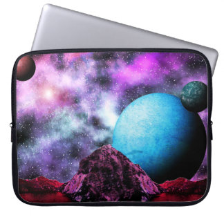 Big Blue Planet Space Scene Computer Sleeve
