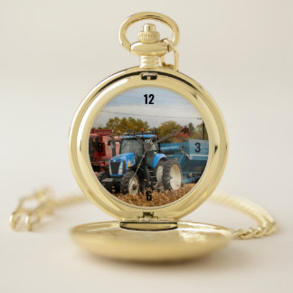 Big blue pocket watch