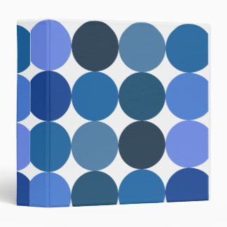 Big Blue Polka Dots 3 Ring Binder