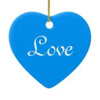 Big blue polka dots  Christmas holiday love Christmas Ornament