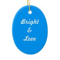 Big blue polka dots Christmas, holiday Christmas Ornaments