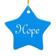 Big blue polka dots Christmas hope Christmas Ornament