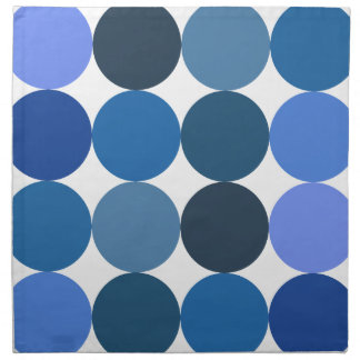 Big Blue Polka Dots Cloth Napkin