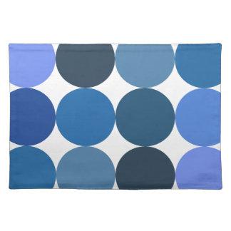 Big Blue Polka Dots Cloth Placemat