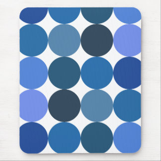 Big Blue Polka Dots Mouse Pad