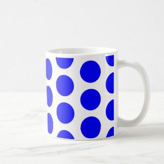 Big Blue Polka Dots Classic White Coffee Mug
