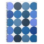 Big Blue Polka Dots Notebooks