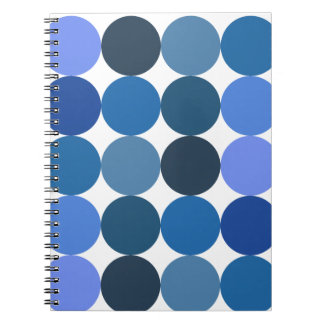 Big Blue Polka Dots Notebooks