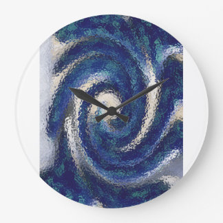 Big Blue round clock