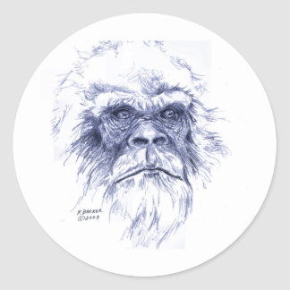 Big Blue Sasquatch Classic Round Sticker