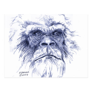 Big Blue Sasquatch Postcard