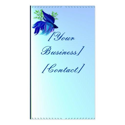 Big Blue Siamese Fighting Fish Business Card