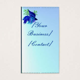 Big Blue Siamese Fighting Fish Business Card