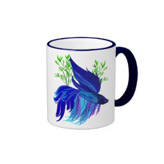 Big Blue Siamese Fighting Fish Mugs