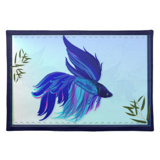 Big Blue Siamese Fighting Fish Placemat