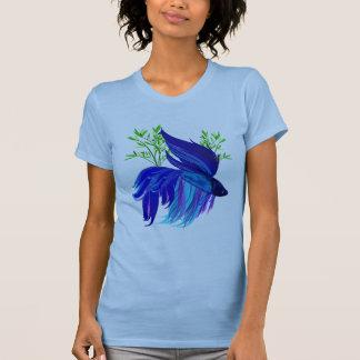 Big Blue Siamese Fighting Fish Shirts