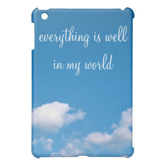 Big Blue Sky and Clouds iPad Case