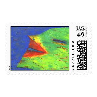 Big Blue Smile Postage Stamp