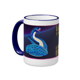 Big Blue Snake From Some Interesting Place Mug