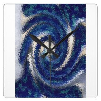 Big Blue square clock