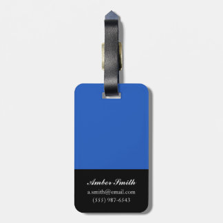 Big Blue Tags For Bags