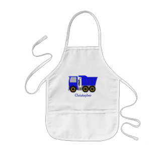 Big Blue Truck Just Add Name Apron